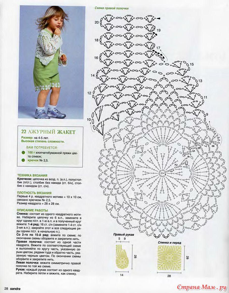 Вязанный ажур для детей