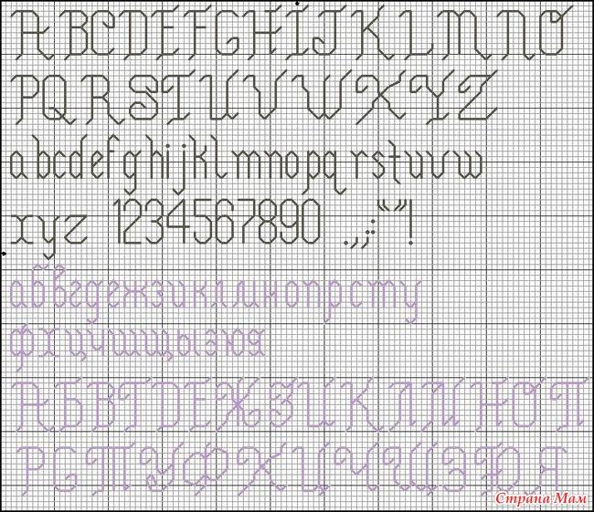 Шрифты и цифры в вышивке