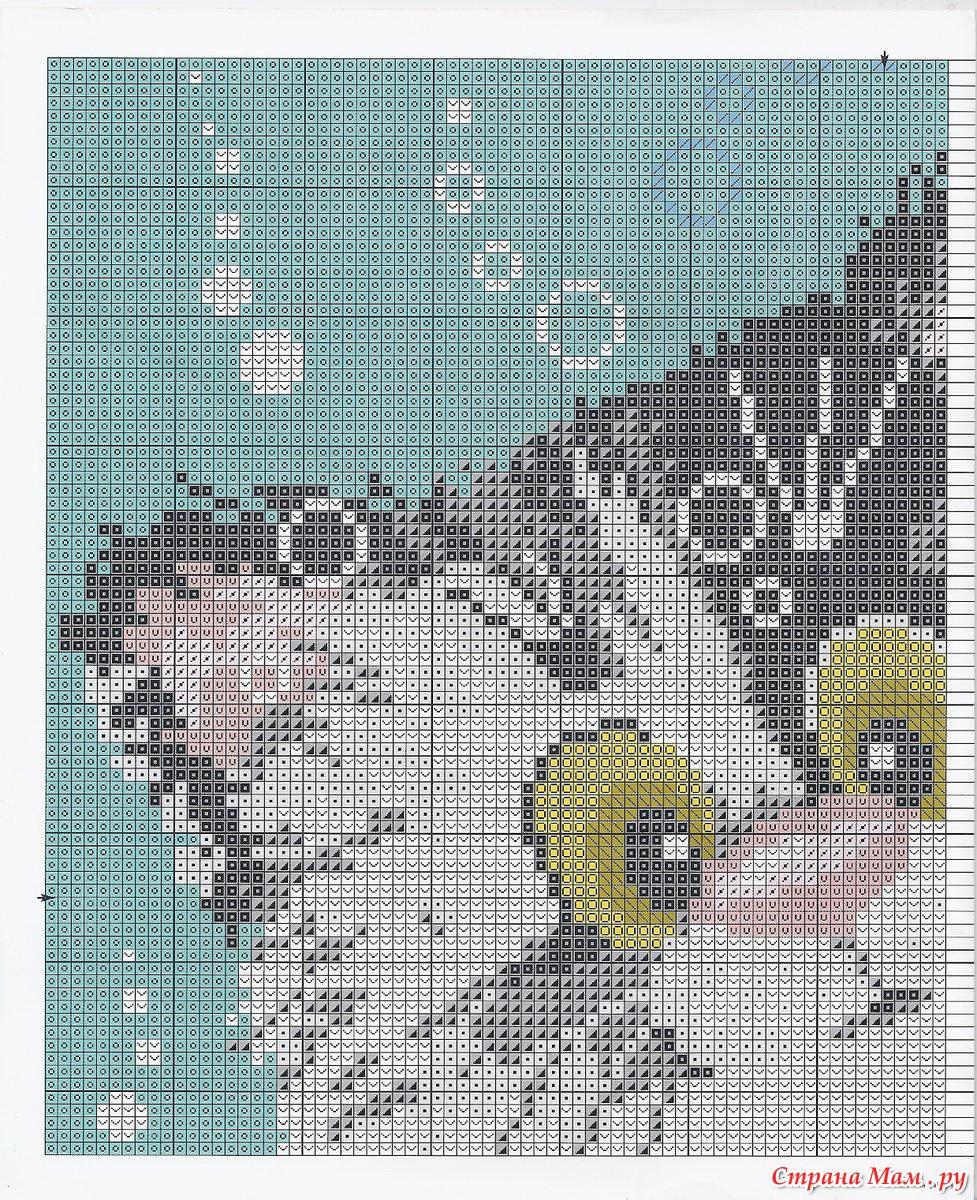 Схемы для вышивки подушек кошки
