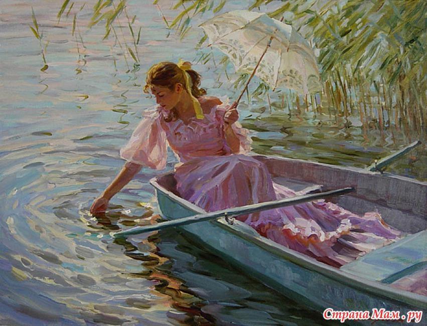 в лодке я качался над волнами