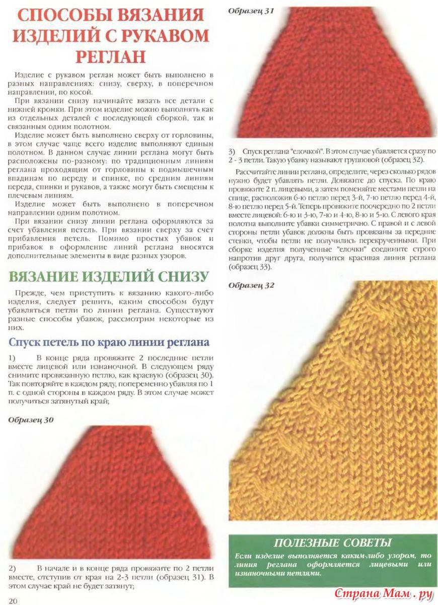 Вяжем рукав реглан спицами: расчет петелек и процесс вязания 71