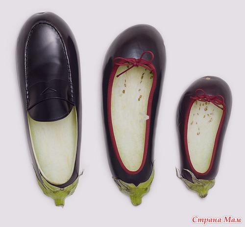 Поделки из овощей туфельки 12
