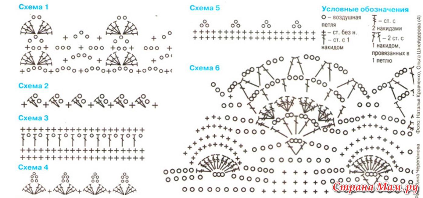 Топ вязание крючком схемы и модели
