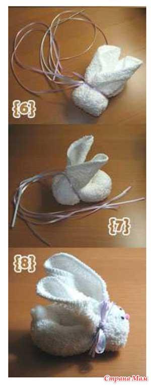 Кролик из полотенца своими руками мастер класс