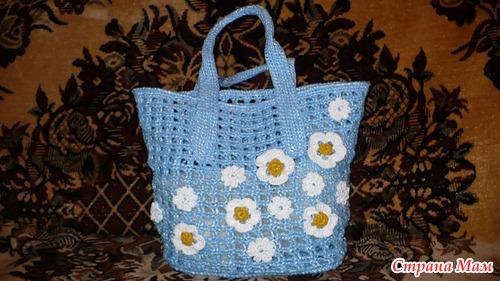 Моя первая сумка. - Вязание