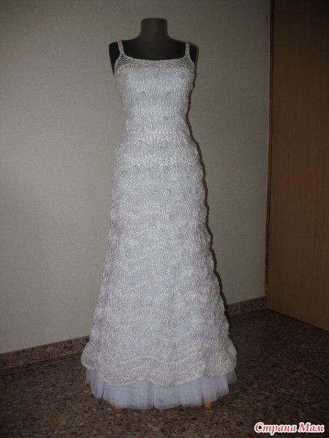 А вот свадебное платье: