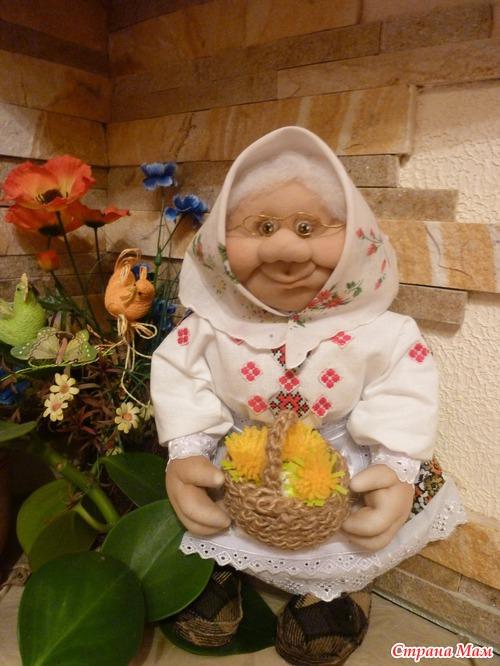 Чулочная кукла бабушка своими руками мастер класс 44