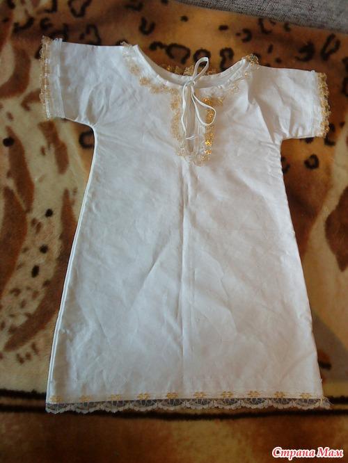 Крестильная сорочка для девочки сшить