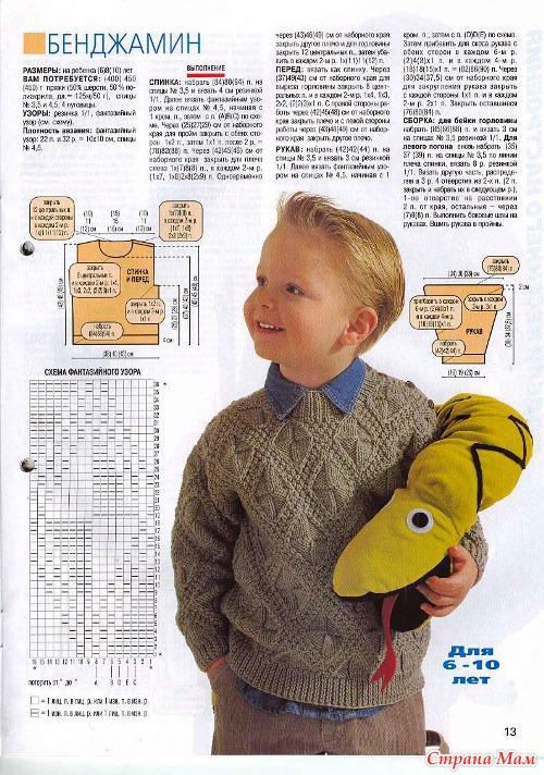 Вязание моделей мальчикам