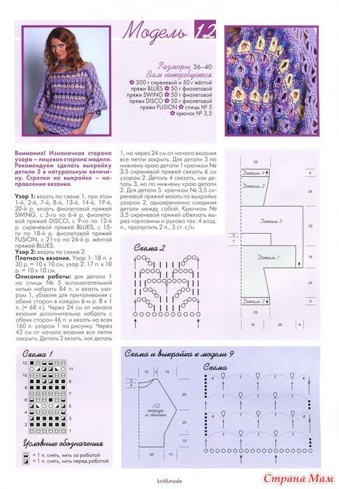 Вязание на спицах молодежные модели и схемы