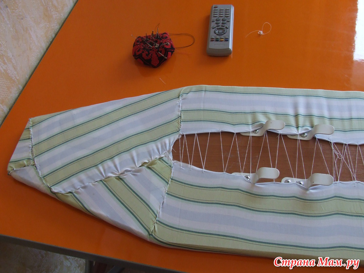 Чехол для гладильной доски Как быстро и просто заменить чехол 93