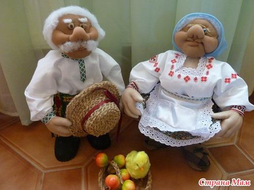 Капроновая кукла деда своими руками