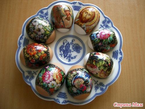 Наклейки на пасхальные яйца