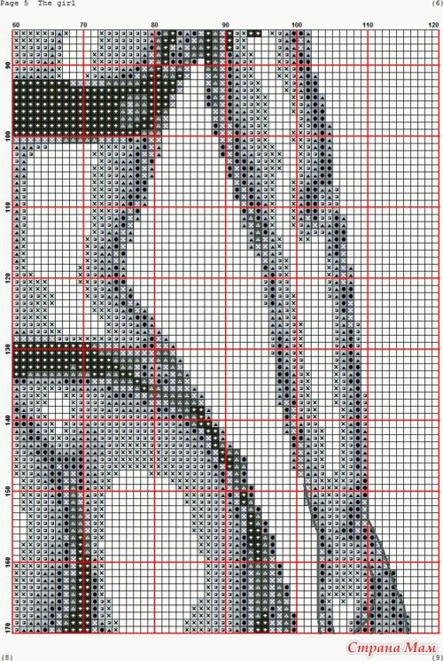 Девушка, монохром(схема)