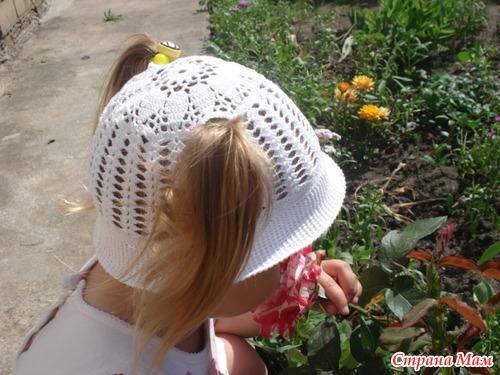 """Детская шляпка """"Белочка"""""""