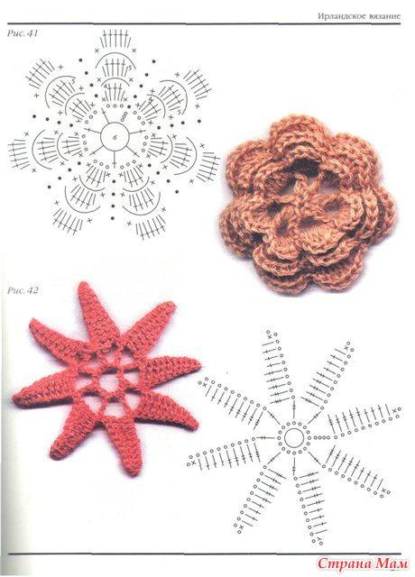 Бесплатное вязание крючком и схемы цветы
