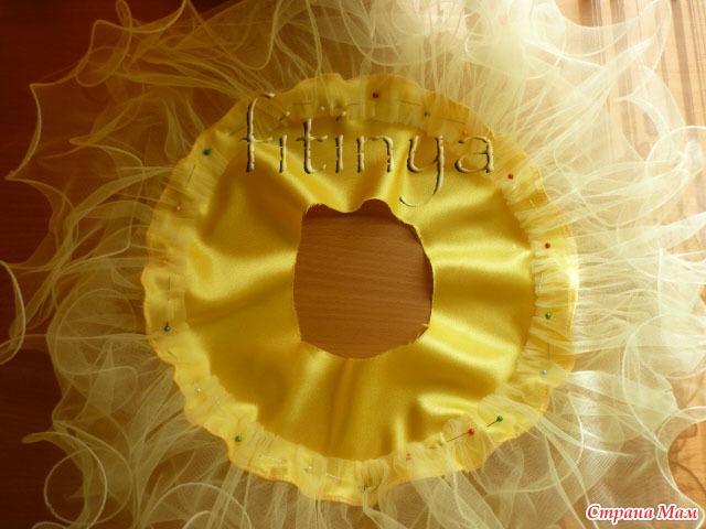 Фатиновая юбка с леской