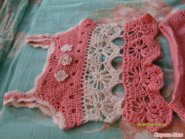 Вязание для девочек летний костюмчик