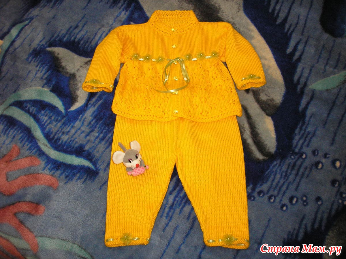 Вязание костюмчик детские для девочек