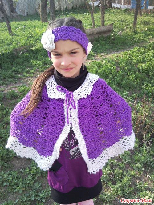 Вязание для детей. пончо