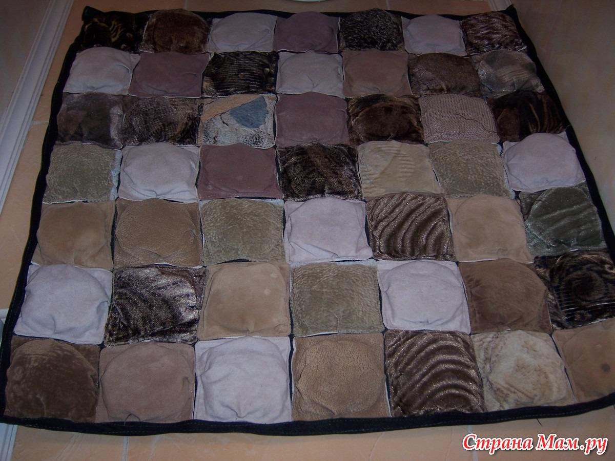 Коврики из кусочков ткани своими руками