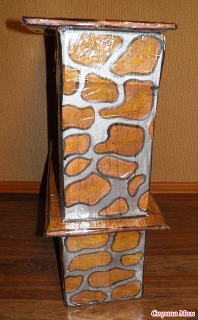 Как сделать камни из картона