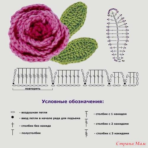 Цветы с схемами