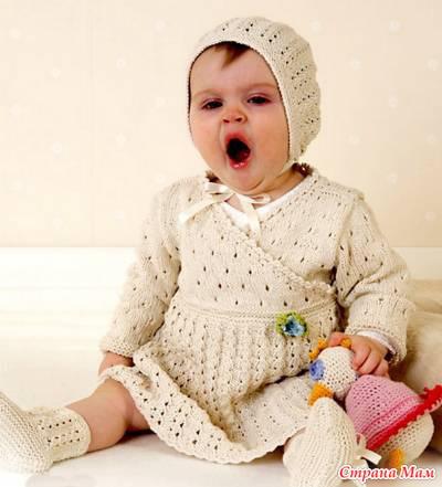 Вязание для детей кофточки спицы