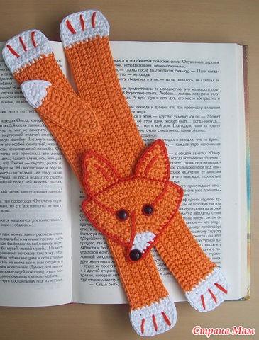 вяжем крючком закладку для книг
