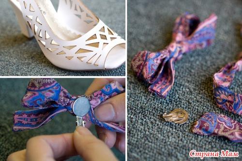 Как сделать бант на туфли
