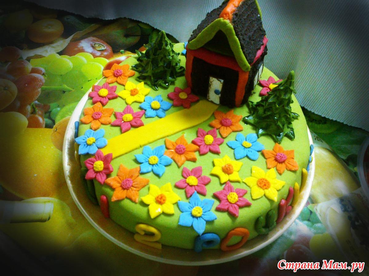 Торт для ребенка без мастики рецепт