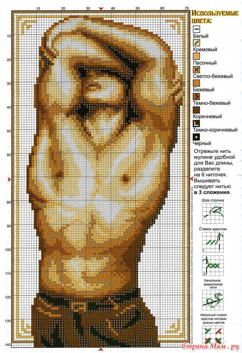 Схема вышивок мужчин