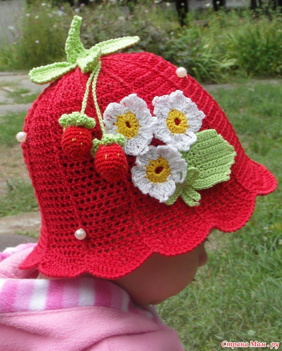 Картинки вязания шапочек крючком для девочек