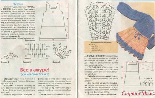 Схема вязания теплого сарафана 51