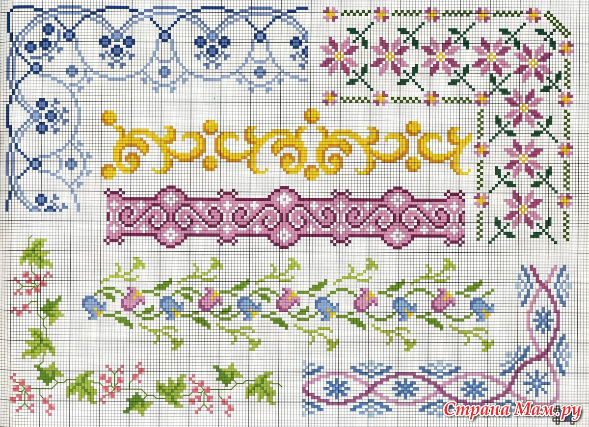 Вышивка орнамента схемы