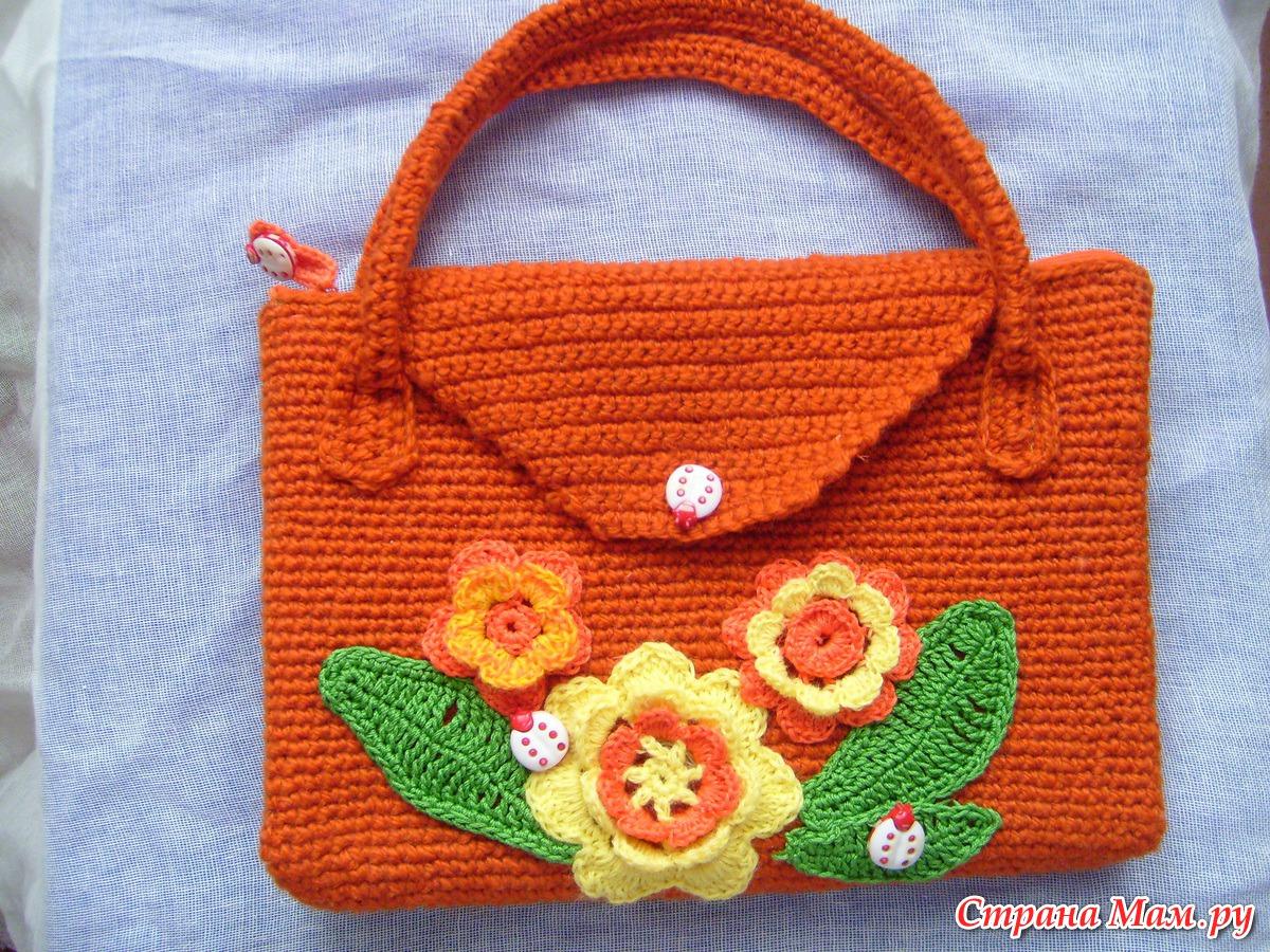 Детская сумочка крючком для девочки фото