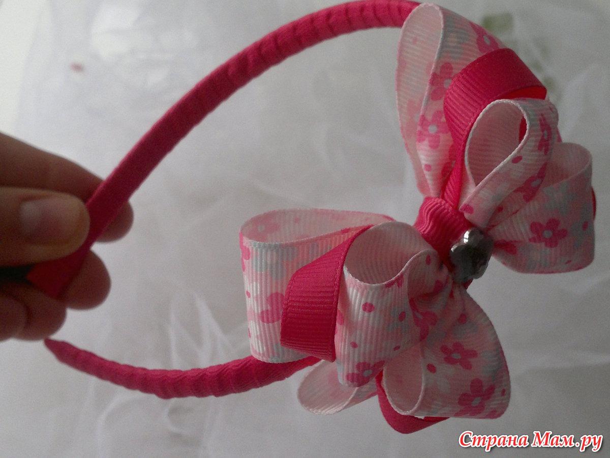 Как сделать детские ободки своими руками