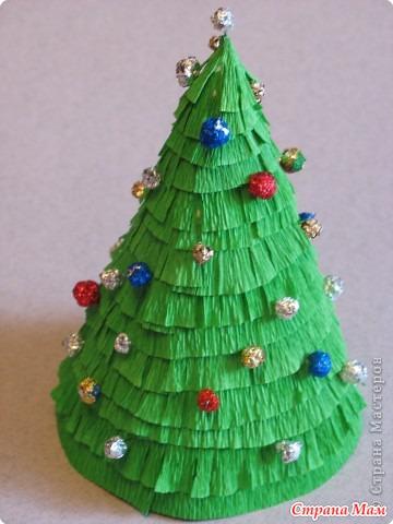 Как сделать из бумаги гофрированной елку
