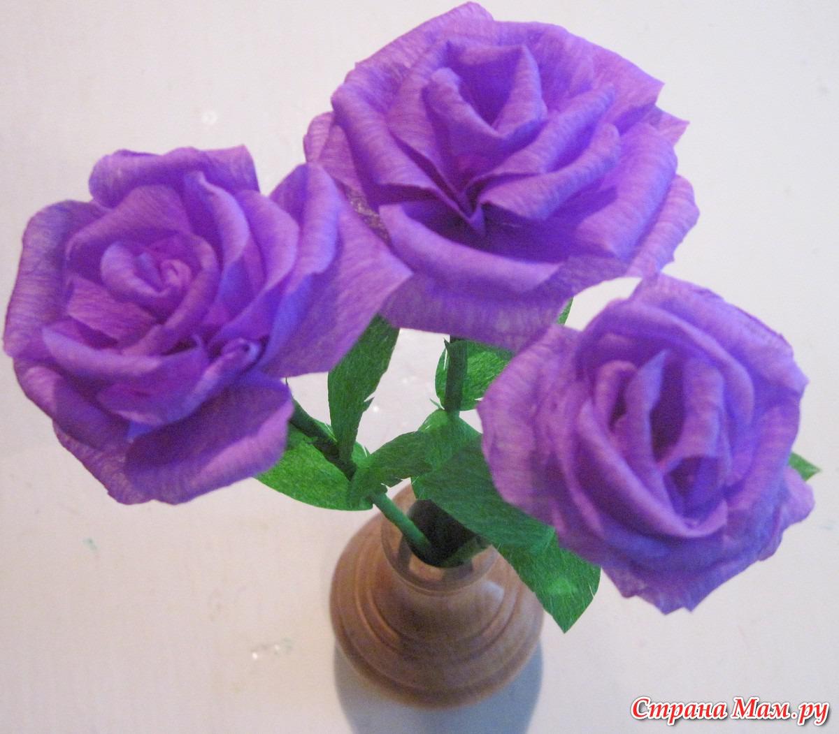 Поделки своими руками из гофрированной бумаги розу