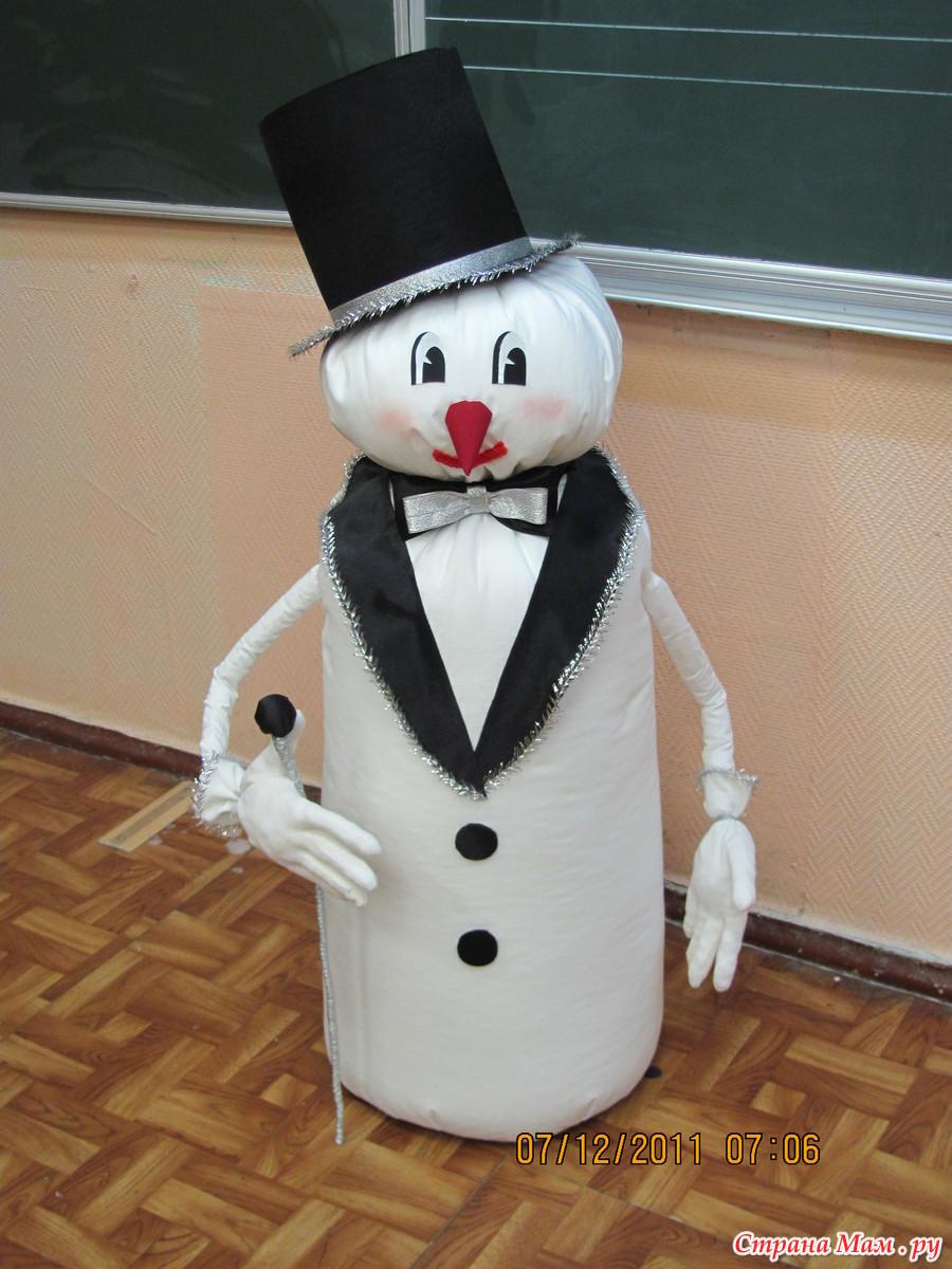 Креативный снеговик своими руками фото