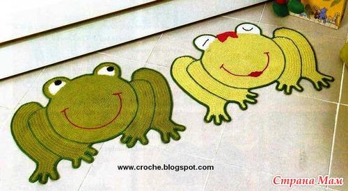 Вязаные детские коврики.