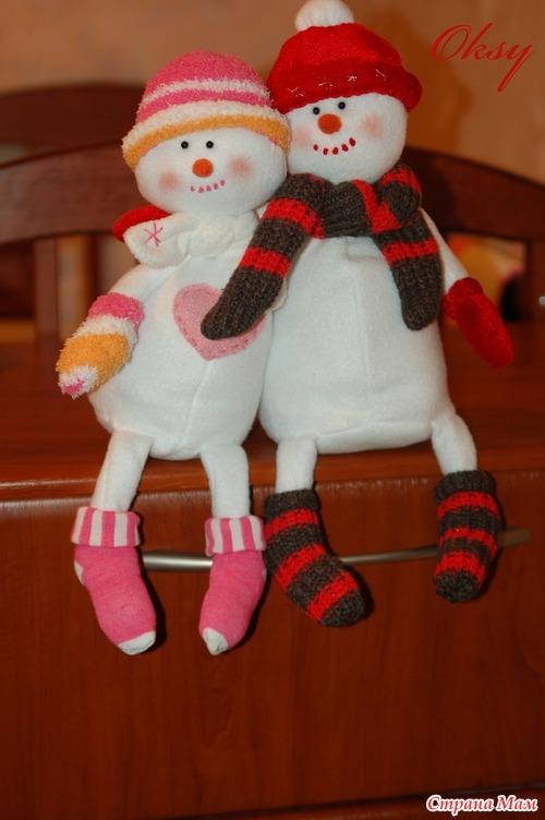 Прикольные снеговики сшить 19