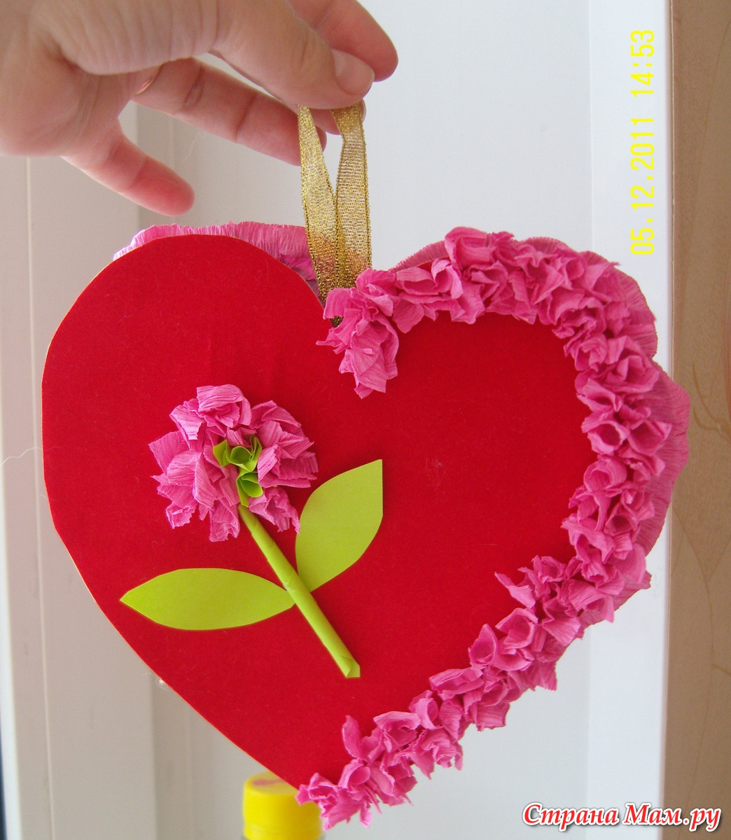 Поделка сердце в подарок маме