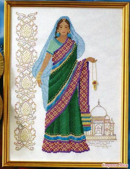 Индия схемы вышивки крестом