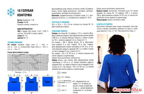 Вязанные кофточки спицами с описанием и схемами