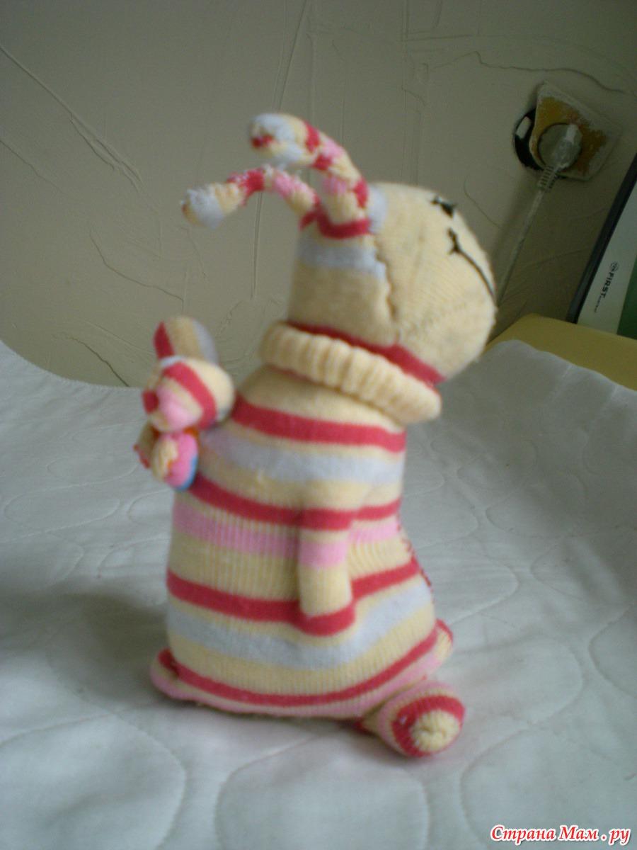 Заяц из носка своими руками фото