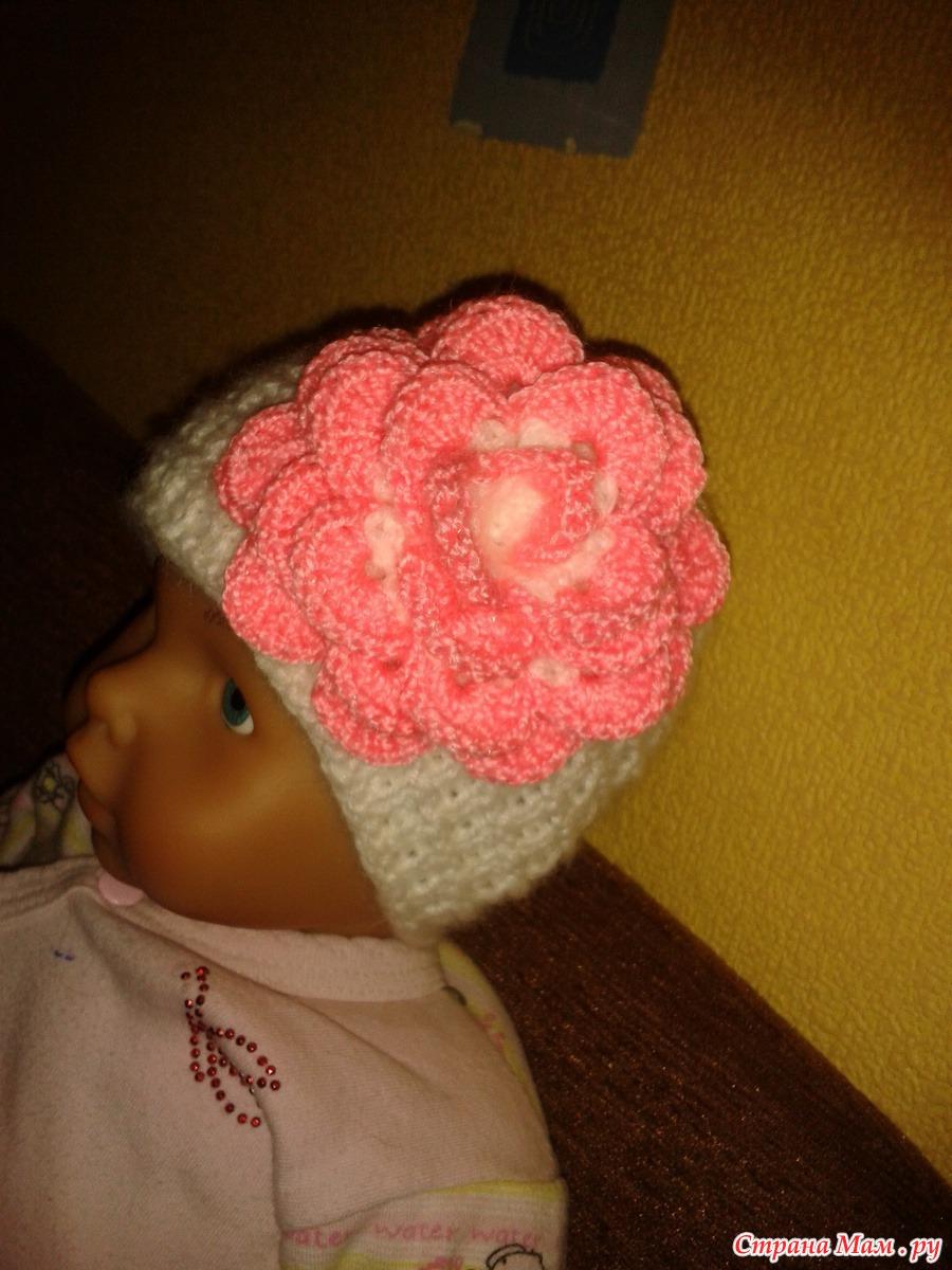Страна мам вязание спицами шапочек для детей