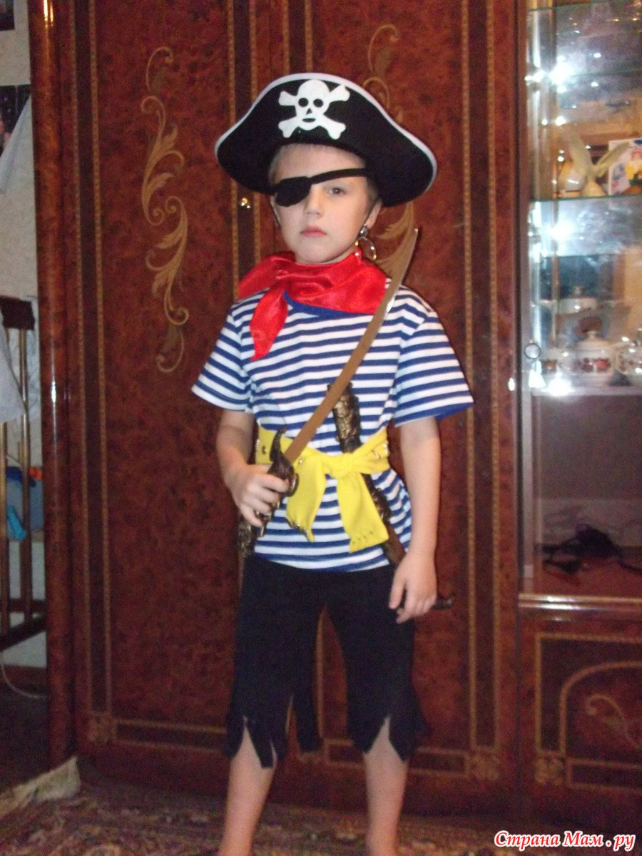 Фото костюм пирата для девочки своими руками на скорую руку