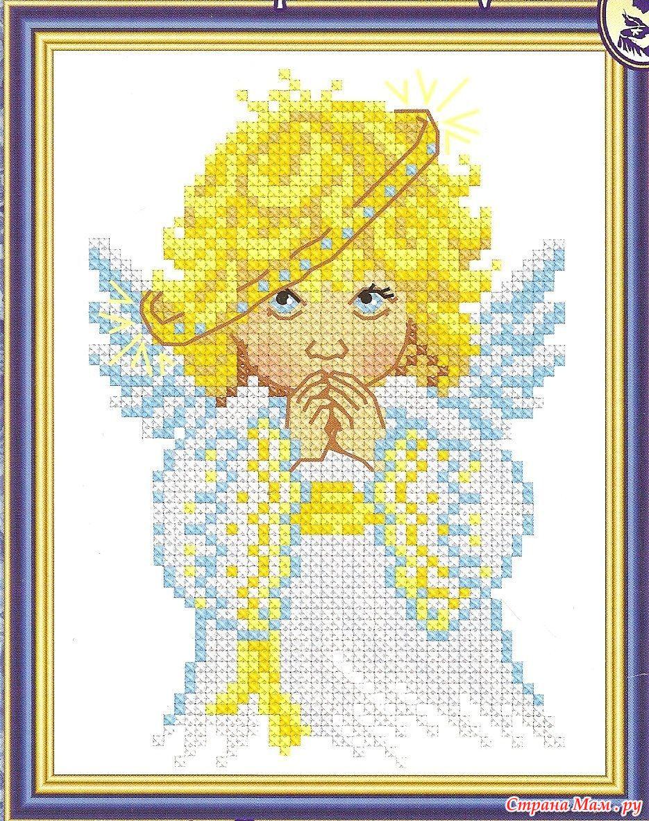 Схема вышивки бисером ангелок