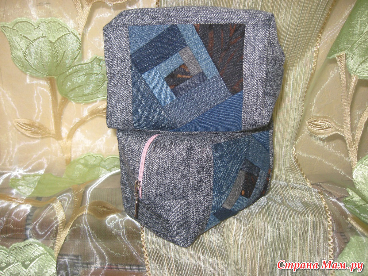 Как сшить из кусков джинса сумку